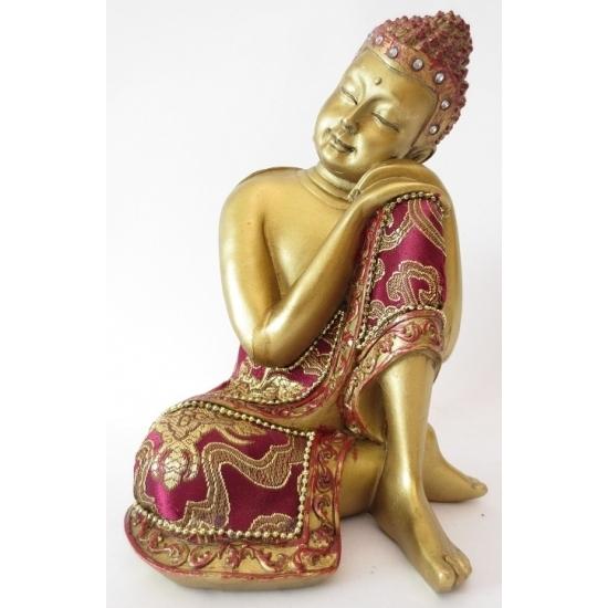 Gouden Boedha beeld van porselein