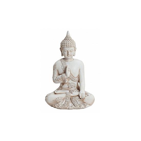 Polystone beeldje Boeddha 17 cm