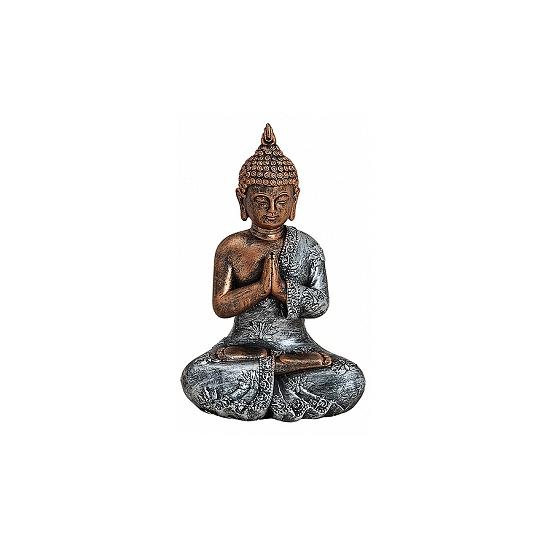 Polystone beeldje Boeddha type 2 18 cm