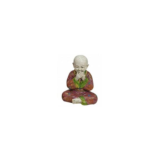 Polystone beeldje Boeddha Zwijgen