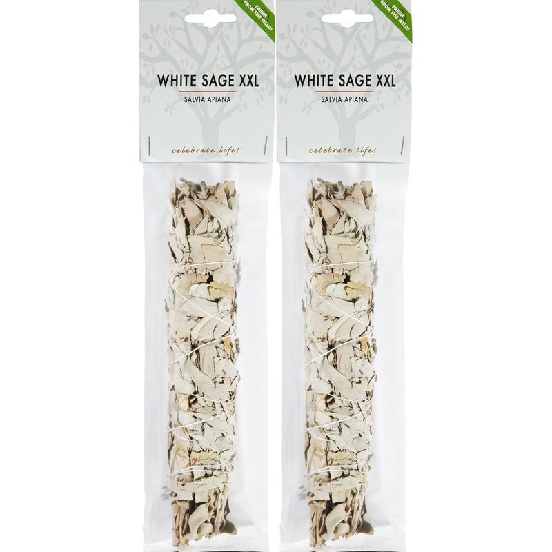 2x Zuiverende witte salie bladeren/blaadjes stick/stokje