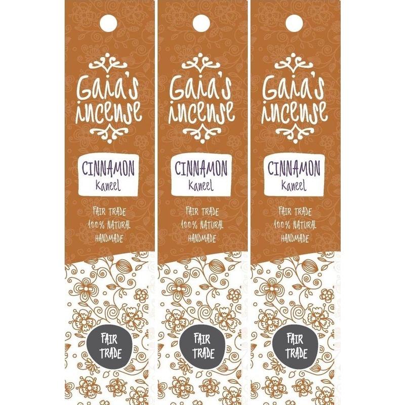 3x Wierook kaneel stokjes voor ontspanning Gaias Incense