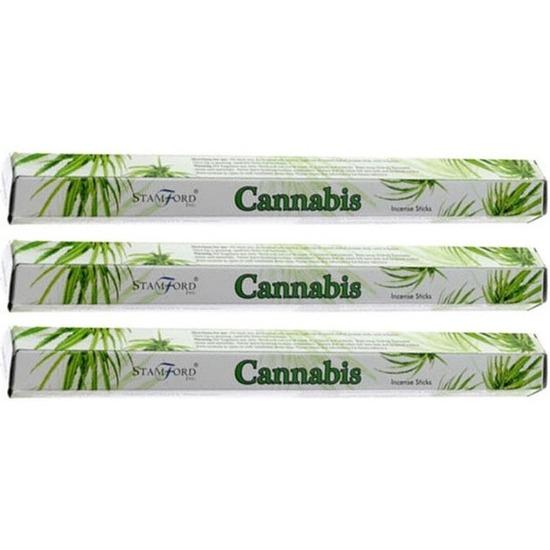 3x Wierook verkwikkende/kalmerende cannabis/marihuana/wiet stokjes