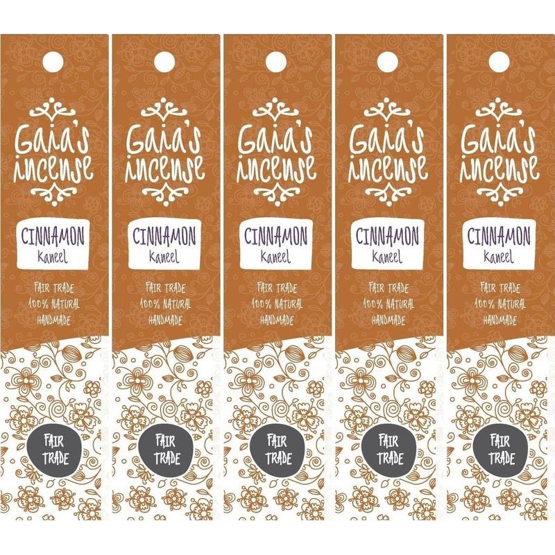 5x Wierook kaneel stokjes voor ontspanning Gaias Incense