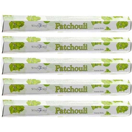 5x Wierook verkwikkende/kalmerende patchouli stokjes