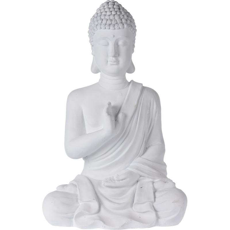Boeddha Beeld Beton.Tuinbeeld Witte Boeddha Van Beton 54 Cm Boeddha Beelden 30 Cm
