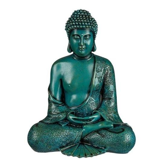 Boeddha beeldje groen 30 cm