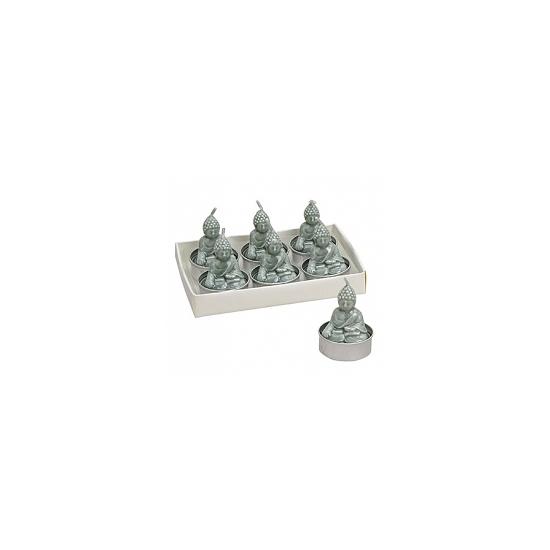Boeddha lichtjes mint 6 stuks 5 cm.