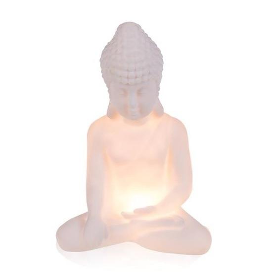 Boeddha verlichting warm wit led-licht 18 cm