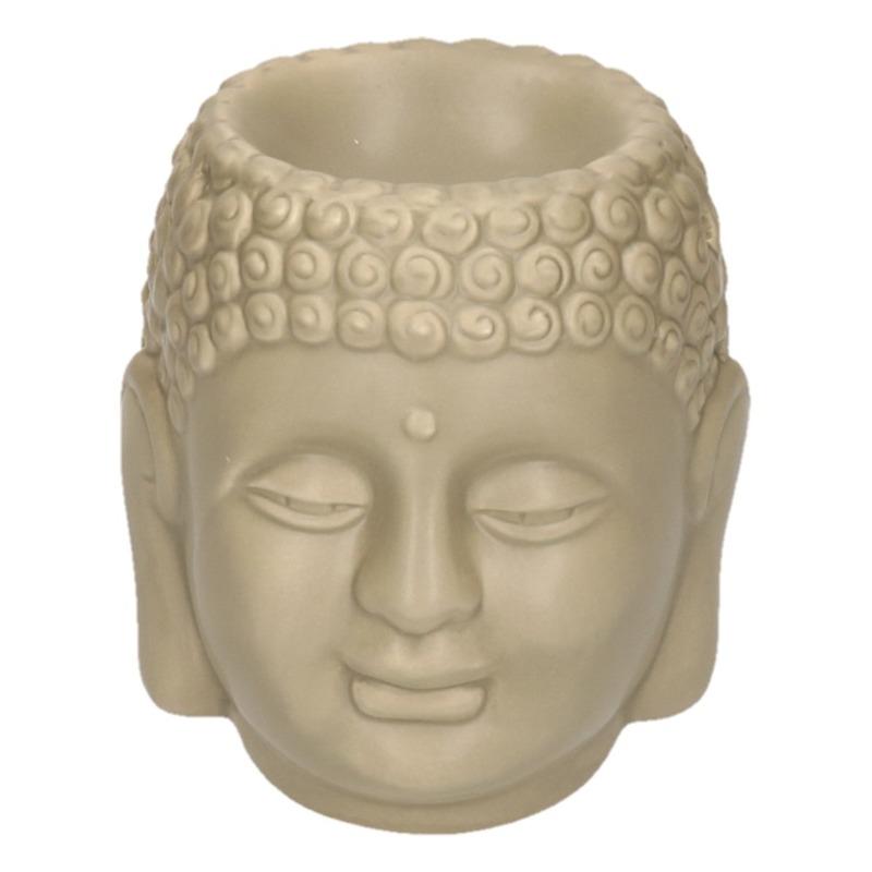 Bruine Boeddha theelichthouder/waxbrander 14 cm