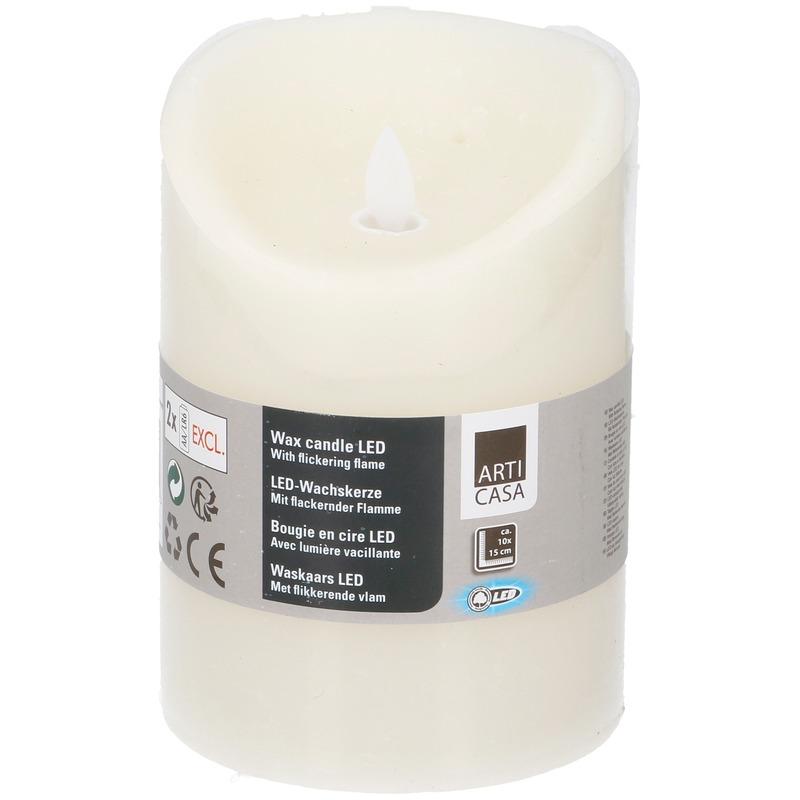 Creme LED kaarsen-stompkaarsen 10 cm