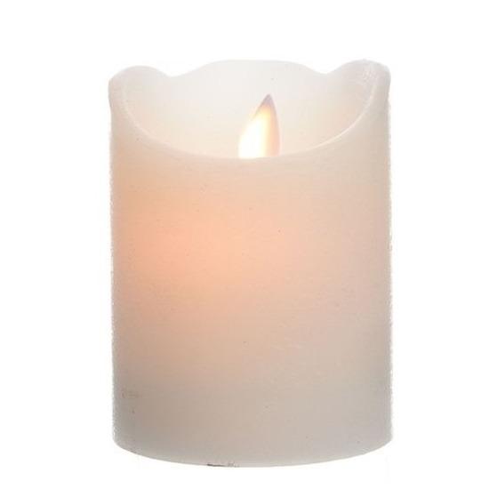 Creme witte LED kaarsen-stompkaarsen 10 cm flakkerend