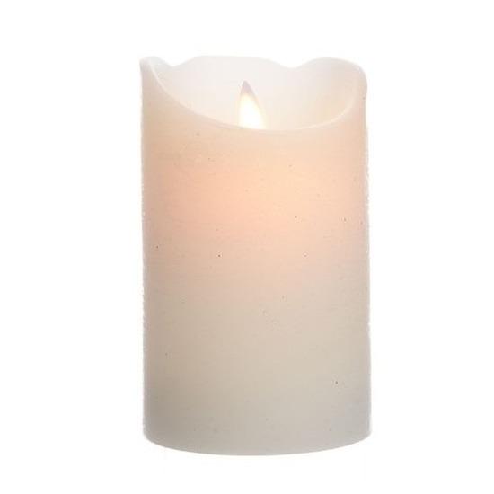 Creme witte LED kaarsen-stompkaarsen 12 cm flakkerend