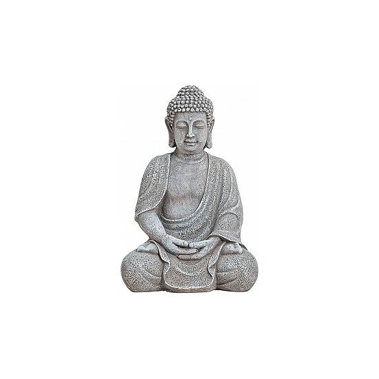 Decoratie Boeddha beeld grijs 30 cm