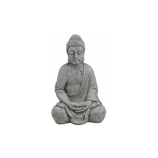Decoratie Boeddha beeld grijs 50 cm