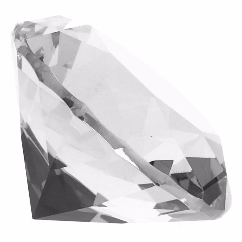 Decoratie namaak diamanten-edelstenen-kristallen transparant 5 cm