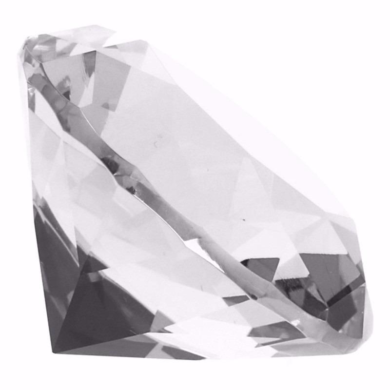 Decoratie namaak diamanten-edelstenen-kristallen transparant 8 cm