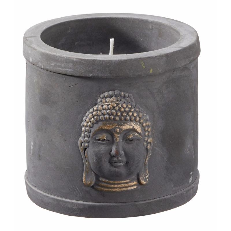 Kaars in indische boeddha houder