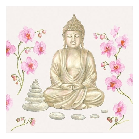 Lunchservetten boeddha print 3-laags 20 stuks