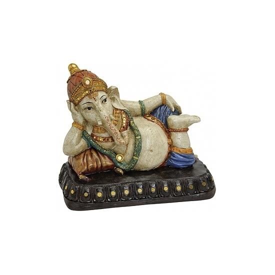 Polyhars Genesha Boeddha beeld 29 cm