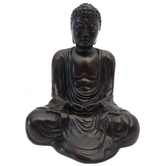 Polystone Boeddha beeldje Japans 12 cm