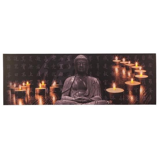 Schilderij buddha met LED licht type 1