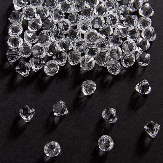 Strooi diamantjes transparant 9 mm