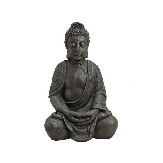 Tuindecoratie boeddha beeld bruin 50 cm