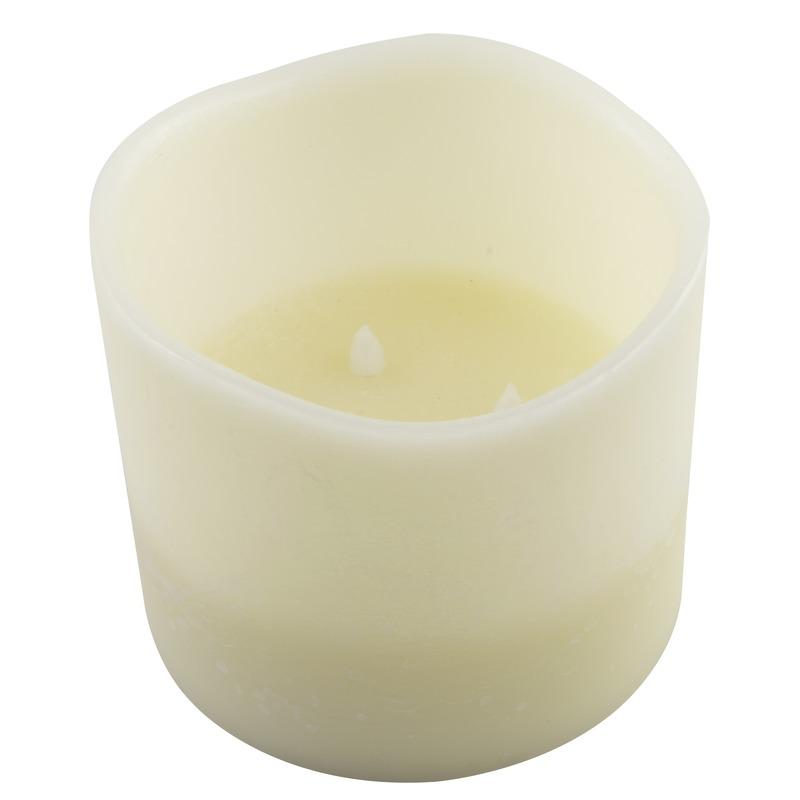 Witte LED kaarsen-stompkaarsen 12,5 cm