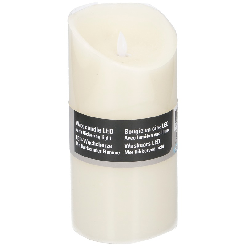 Witte LED kaarsen-stompkaarsen 19,5 cm