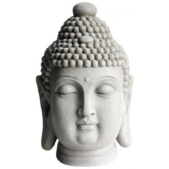 Woondecoratie boeddha hoofden 41 cm