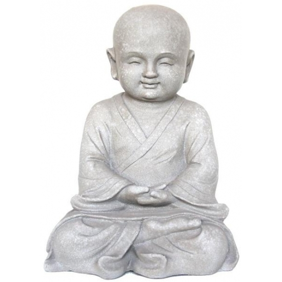 Woondecoratie mediterende monnik 41 cm