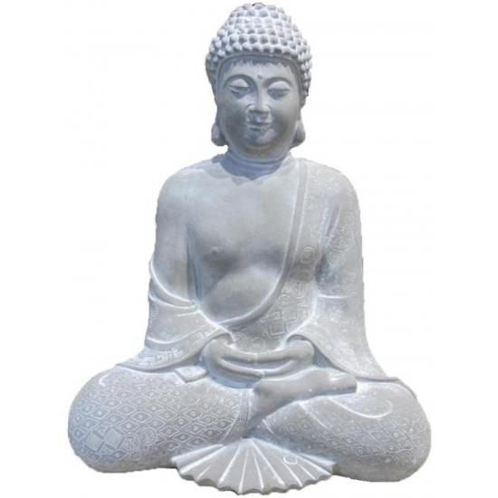 Woondecoratie zittende boeddha 28 cm