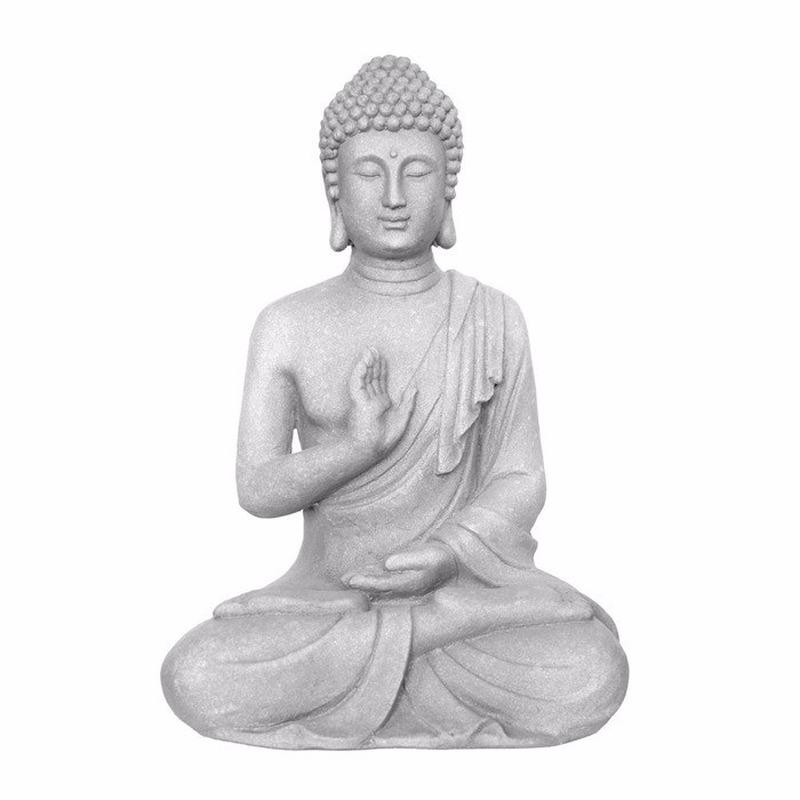 Woondecoratie zittende Boeddha 60 cm