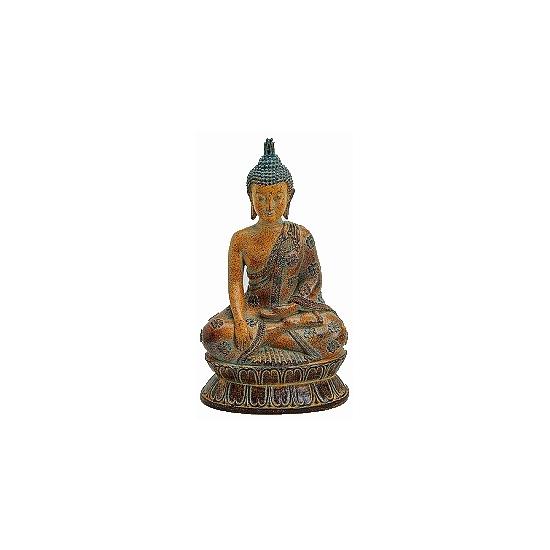 Decoratie Boeddha beeldje bruin 26 cm   Boeddha beelden   De Boeddha winkel