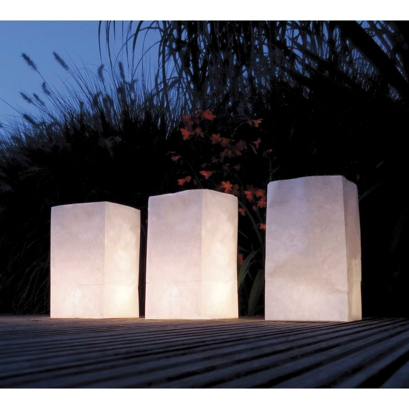 Witte Candle Bags set 30x stuks
